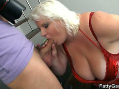Horny big boobies bbw is doggy styled after photo session