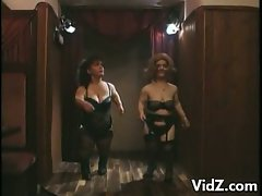 Horny midgets dance and strip off their sexy clothes on stage