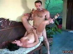 Nasty cock loving latin tranny hardcore anal pounding adventure