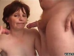 Hot milf babe loves two hot cocks inside her