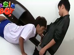 Two asian gay boys suck some nice hot blowjob