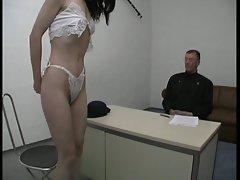 Brunette Slut Enjoys Two Hard Cocks
