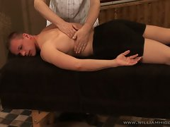 Young hot muscled stud down for some erotic gay sizzling massage