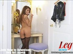 Asian beauty charmane star in a solo