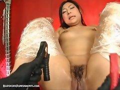 Extreme japanese bondage nasty sex with amateur hairy pussy milf