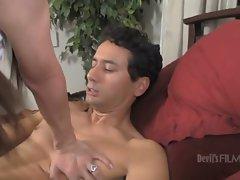 Big dick tranny slut loves pumping this sweet hot bitch