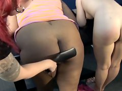 Chubby subby nimadee and her friend get spanked