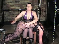 Mistress feloxcia shares lesbian bum beating fun with kinky krystina