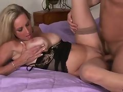 Horny milf bitch is delighted with this fucking session