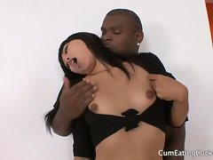 Sissy husband watches his wife being fucked by black cock