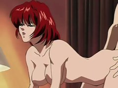 Busty redhead gets pussy pumped hard