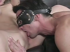 Awesome bisexual threesome fuck