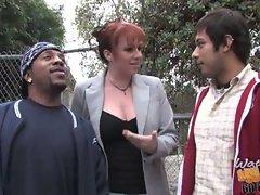 Mom kylie ireland fucks black cock to save her son