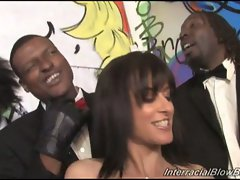 Cecelia vega loves hot big black cock blowbang