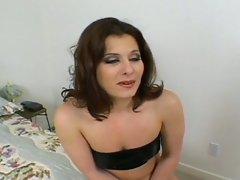 Milf whore slams big dick inside her hole