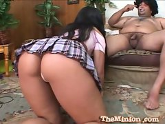 Luscious lopez gives a 69 on chubby small dick