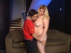 Fat teen fucked by a skinny lesbian