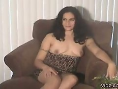 How can you resist this beautiful, brunette whore baring naked in...