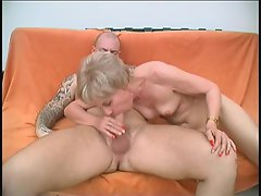 She hasn't had a cock in a while and faced with a young and stiff...