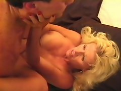 Luscious blonde granny got herself a boy toy. This mature whore loves...