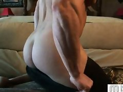 Hot guy, strong muscles, big cock and an awesome pop! What more could...