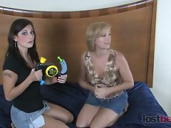 Please welcome two new girls. Feisty blonde Mo pairs off against...