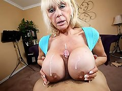 Perverted Granny catches Jimmy staring at her whopping 44JJJ juggs...