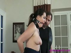 Nimue and The Boss satisfy Jana's sexual fantasy of becoming a slave....