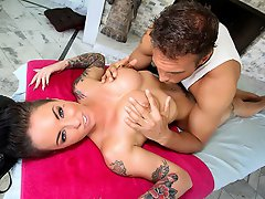 Christy Mack is back! She's desperately in need of a massage and who...