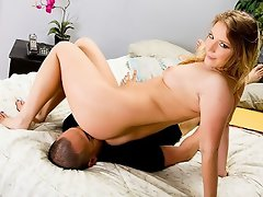 Aurora Snow turn Eric Jover into her ass-licking bitch...