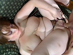 Curvy naked mommy gets dicked by a nasty boy spying on her in the...