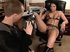 Nicki Hunter's in a dominant mood, so she called her partner and...