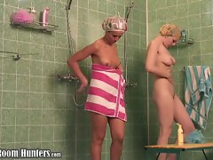 Double shower voyeur...
