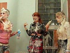 Super naughty schoolgirls Leony Aprill and Tarra White are skipping...