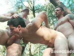 Madman Ricky Sinz torments Tyler Alexander and Morgan Black deep in...