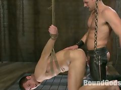 Scott Tanner humiliates and fucks Derrek Diamond in bondage....