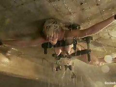 Angel-faced Chloe Camilla bolted to the ceiling in severe metal...