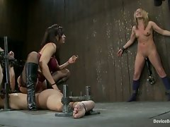 Two gymnast detained, bound and tortured by evil couple.  Both...