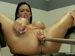 EIGHT Squirting Orgasms in a Row, sprays her own cum on her OWN face....