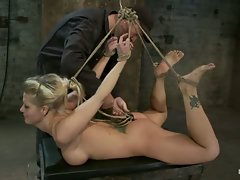 Holly suffers the most horrific, painful bondage suspension there is....