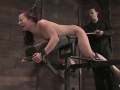 Horny Russian rope slut Olga Cabaeva bound and fucked silly....
