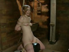 Ela Darling tied up, squirting, and begging for more....