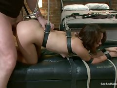 Adulteress blackmailed and dominated in bondage with anal sex....