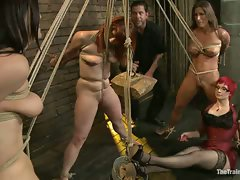 Lesbian slave training for the first time ever! The sadistic Claire...