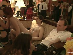 Sex party full of kinky sucking and fucking...
