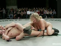 Live Tag Team full nude, non-scripted wrestling action.  4 hot girls...
