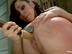 Maitresse Madeline bound, humiliated, fucked and hazed in as director...