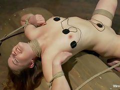 Isis Love ties up, shocks, and cums all over an amateur girl with...