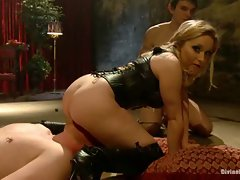 Maitresse Madeline and Aiden Star pit to pathetic worms against each...