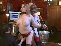 The house slaves are put in predicament bondage that forces them to...